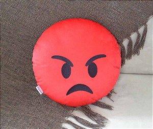 Almofada emoji vermelho de raiva Grande