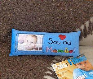 Almofada para foto - Sou da mamãe azul