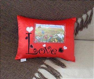 Almofada Love porta retrato