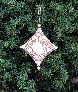 Enfeite de Natal pingente Maria, José e Menino Jesus