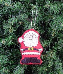 Enfeite de Natal Papai Noel feliz