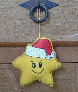 Enfeite de Natal Estrela feliz