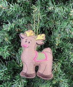 Enfeite de Natal rena