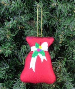 Enfeite de Natal saco presente
