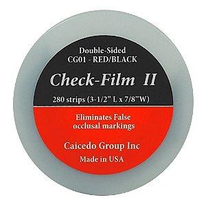 PAPEL CARBONO CHECK FILM II VERMELHO/PRETO COM 12 FOLHAS 12 MICRAS