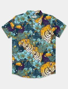 Camisa Tropical Tiger