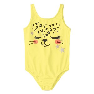 Body Amarelo Oncinha Menina