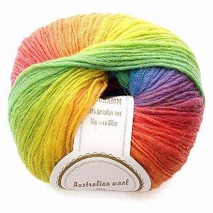 Bola De Lã Colorido De Tricô e Crochê