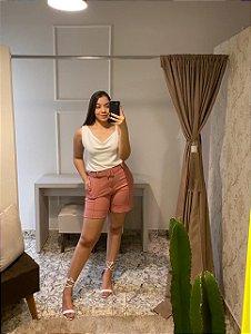 Shorts Vick Metrô / Tamanho: G / Cor: Rosa Goiaba