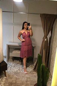 Vestido Maclagen / Tamanho: 38 / Cor: Pink Nude