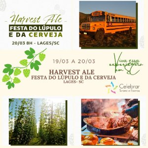 Excursão: Harvest Ale  A Festa do Lúpulo e da Cerveja (Com Pernoite)