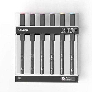 Pincel Ginza Nano Brush Pen - Magic Kingdom Cx com 6