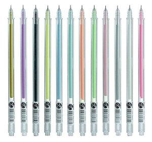 Kit Canetas Gel Hashi 12 cores diversas