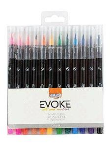 Brush Pen 12 cores Aquarelável