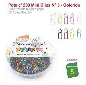 Clipes para Papel tamanho 5 Coloridos 200 unidades