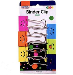 Clip/Prendedor Binder Papel 6 unidades 25 mm Emoji
