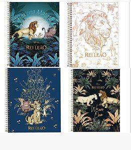 Caderno Universitário Rei Leão 160 Folhas 10 Matérias