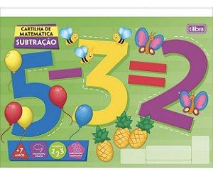Cartilha de Atividades Matemática 20 Folhas Tilibra SUBTRAÇÃO
