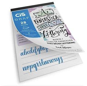 Bloco Lettering com Exercícios A4 Cis 180 g 28 folhas