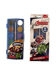 Tinta Aquarela Avengers Molin 12 cores com 1 Pincél