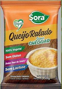 QUEIJO RALADO SABOR CHEDDAR 50G - SORA