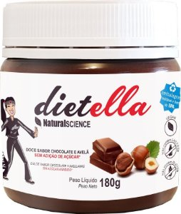 DIETELLA - DOCE CHOCOLATE E AVELA SEM AÇUCAR 180G - NATURAL SCIENCE