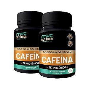 Kit 2 Cafeína 200mg Com Carnitina 60 Cápsulas Vegetais