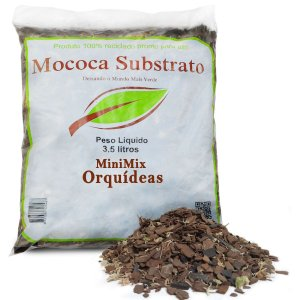 Mini Mix para Orquídeas - Substrato Chip de Coco, Casca de Pinus, Musgo e Carvão Ativado (3,5 litros)