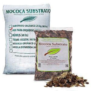 Substrato para Orquídea Mix de Chip de Coco, Musgo, Carvão Ativado e Casca de Pinus (7 ou 40 Litros)