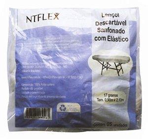 Lencol Descartavel c/ Elastico 17g 5und NTFLEX