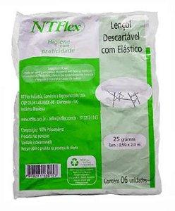 Lencol Descartavel c/ Elastico 25g 5und NTFLEX