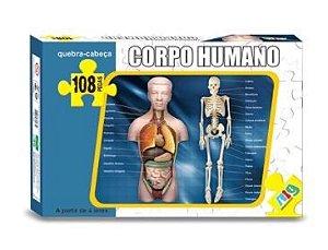 Corpo Humano 108 Pçs Quebra Cabeca