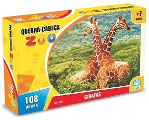 Quebra Cabeça  Zoo Girafas