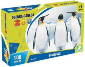 Quebra-cabeça 108 Peças Zoo Pinguins