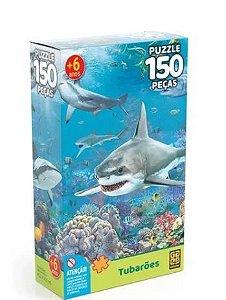 Puzzle 150 Peças Tubarões