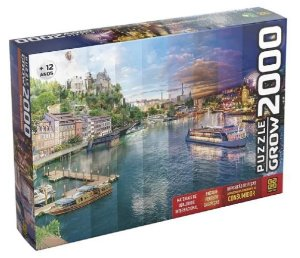 Puzzle 2000 Peças Dia E Noite