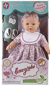 Boneca Meu Nenezinho Vestido Rosa Cheirinho Estrela
