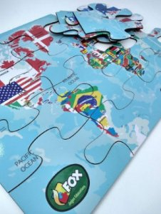 Quebra-cabeça mapa Mundi