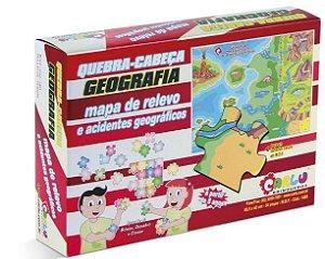 Quebra cabeça Geografia  Mapa de relevo e acidentes geográficos