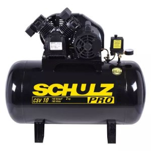 Compressor 10 Pés 100 Litros 140 Libras 2,0 HP CSV-10/100 PRO SCHULZ
