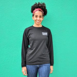 Camiseta Manga Longa Feminina SkateMania Preta