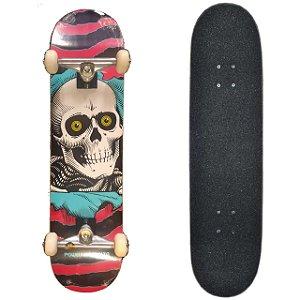 Skate Profissional Completo com Shape Powell Peralta Ripper Rosa