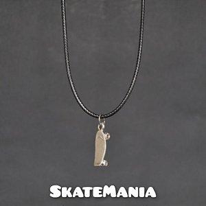 Colar Mini Skate em Aço SkateMania
