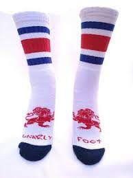 Meia Old School Algodão Gnarly Foot Listras