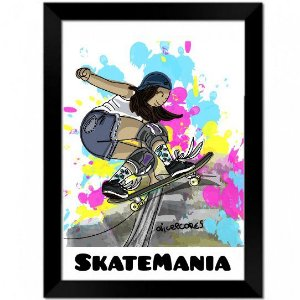 Quadro Decorativo A4 SkateMania Alice