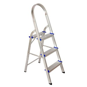 Escada Alumínio Doméstica 3 Degraus 120Kg Dobrável
