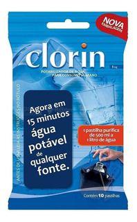 Clorin 10 Pastilhas Purificadoras Para Água De Consumo