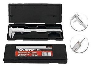 Paquímetro Universal Metálico 150m Passo 0,02mm Medidor MTX