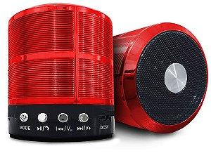 Alto-falante Caixa Alta Potência Ws-887 Portátil Bluetooth