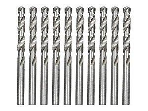Broca De Aço Rápido Para Metal 2,5mm Polida 10 Pçs MTX